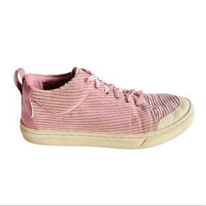 Toms pink Corduroy girls size 2.5 youth Sneakers